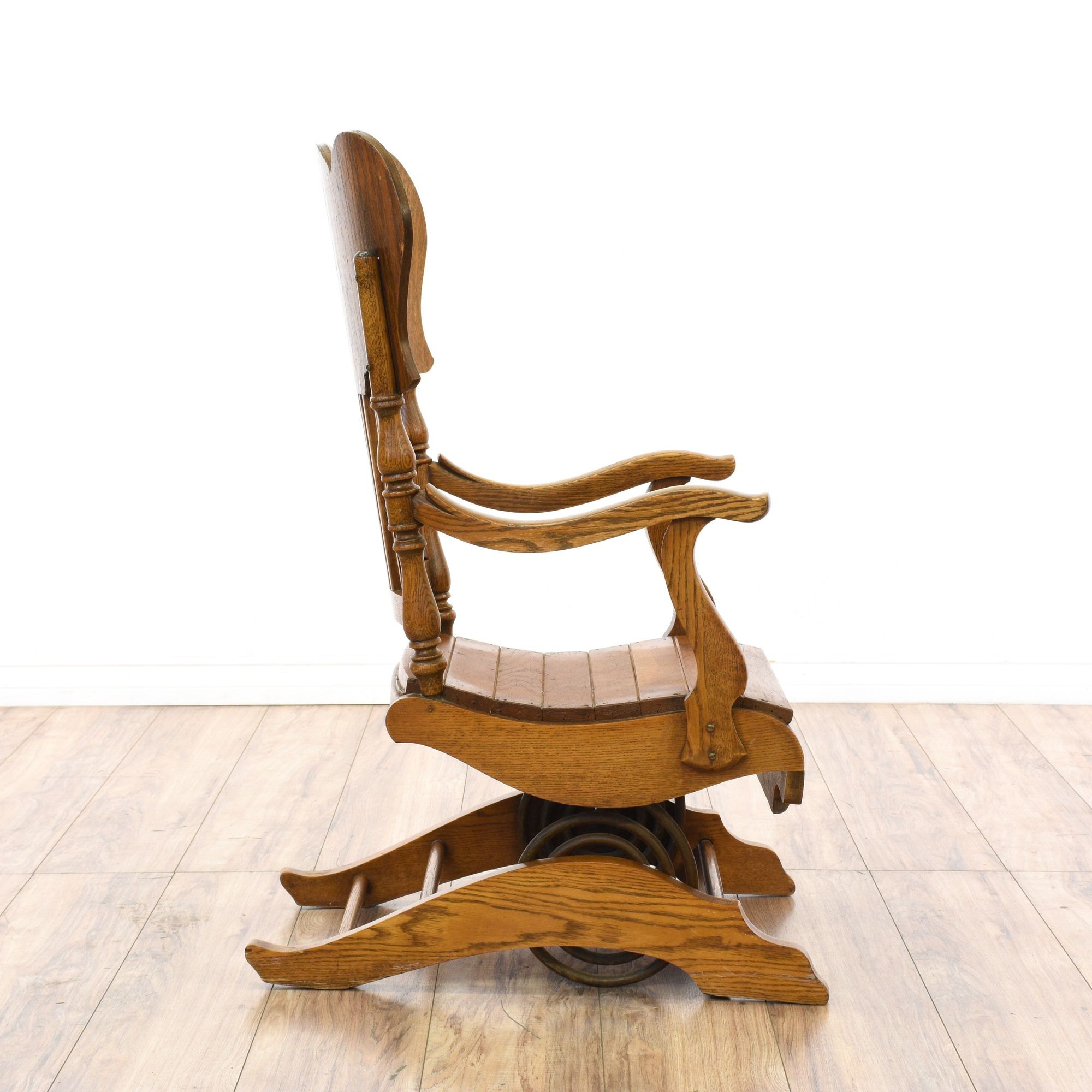 Antique carved rocking chair loveseat vintage furniture