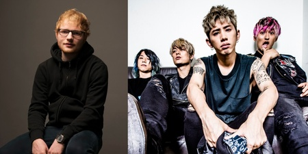Ed Sheeran and ONE OK ROCK are in the studio together