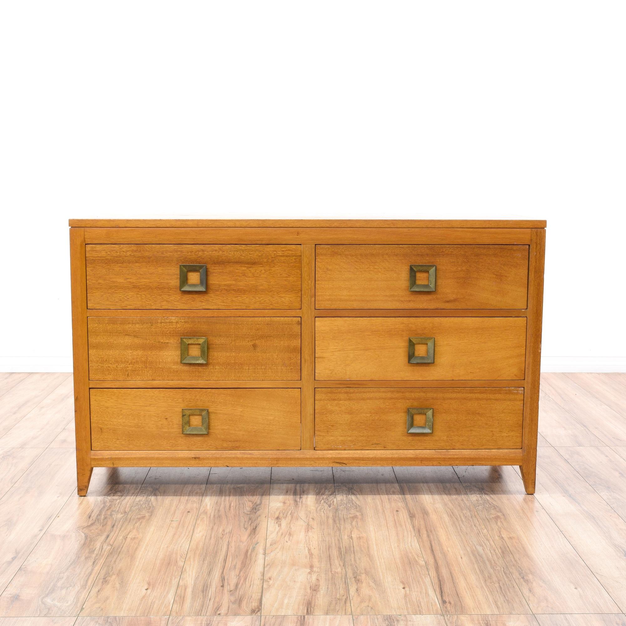 mid century modern light cherry dresser loveseat vintage furniture san dieg. Black Bedroom Furniture Sets. Home Design Ideas