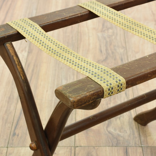 Vintage Solid Wood Folding Luggage Rack Loveseat Vintage