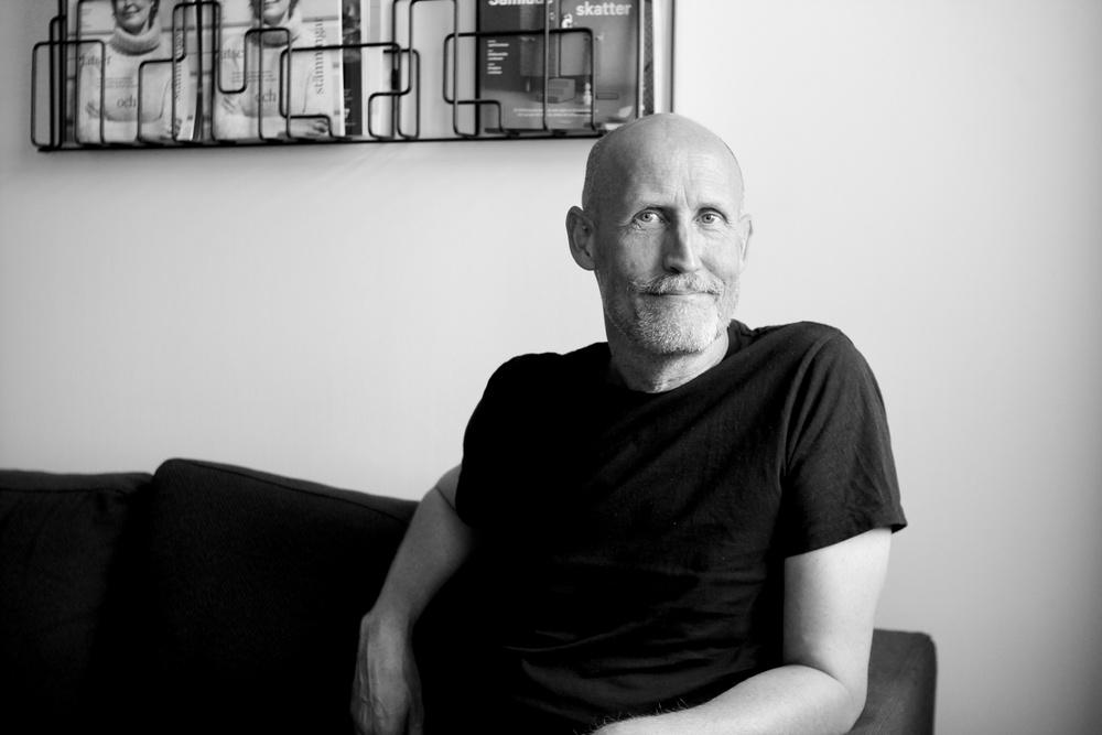Lars Fuhre, vice ordförande i Svenska Tecknare. Foto: Jenny Gustafsson