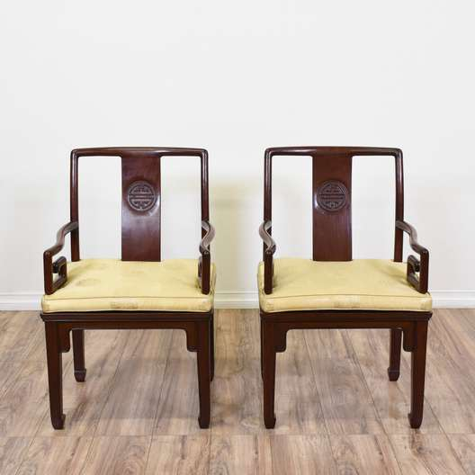 Pair of Chinese Rosewood Captains Chairs