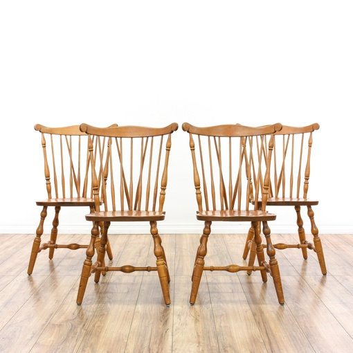 S bent bros set of 4 windsor back dining chairs for S bent dining room furniture