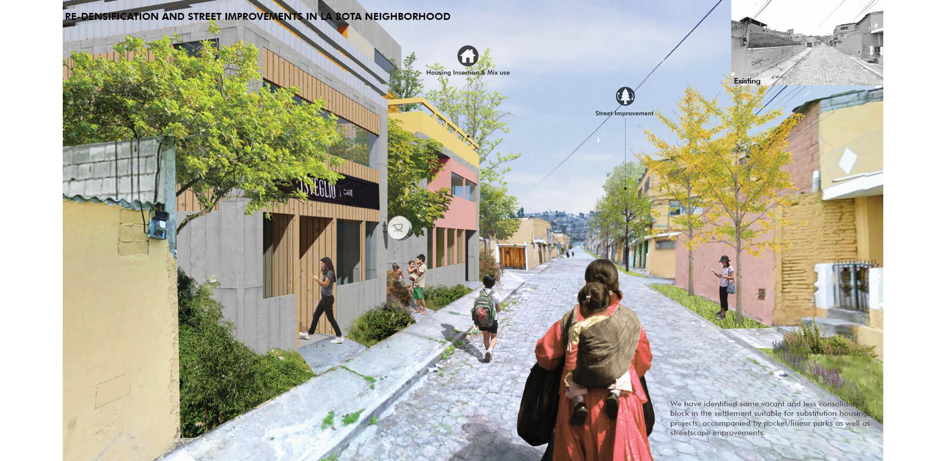 Re-Densification and Street Improvements in La Bota Neighborhood