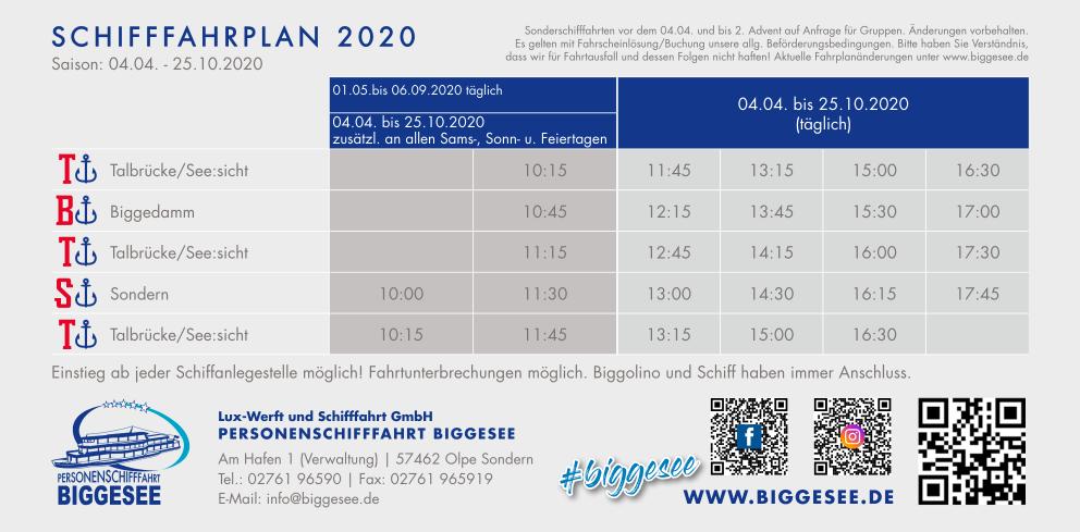 Fahrplan 2020