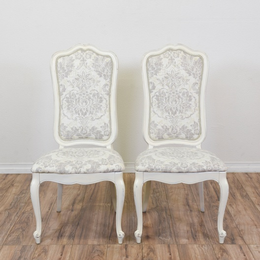 Pair Of Shabby Chic Fl Upholstered Chairs