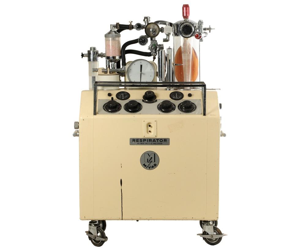 """MS 13238. Respirator """"Engström"""". Utvecklad av Carl Gunnar Engström under tidigt 1950-tal."""