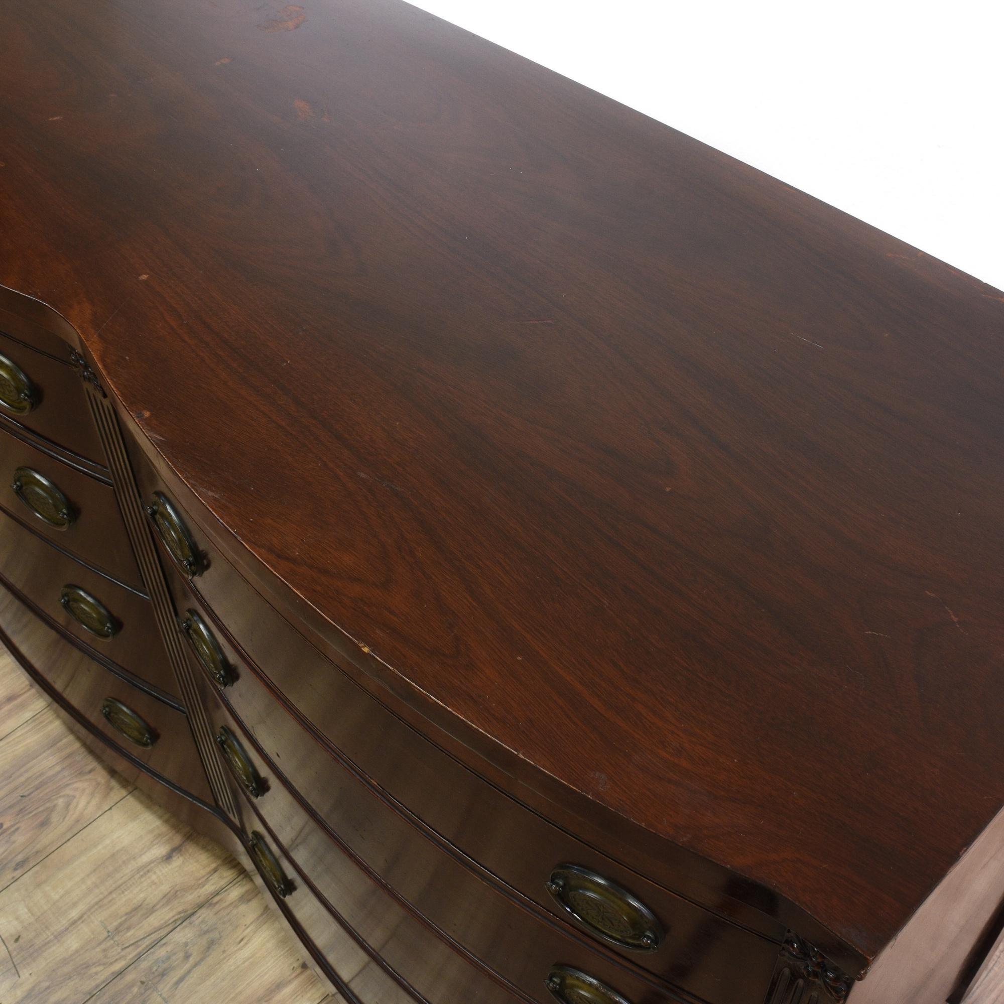 Huntley 8 Drawer Bow Front Mahogany Dresser Loveseat Vintage Furniture San Go