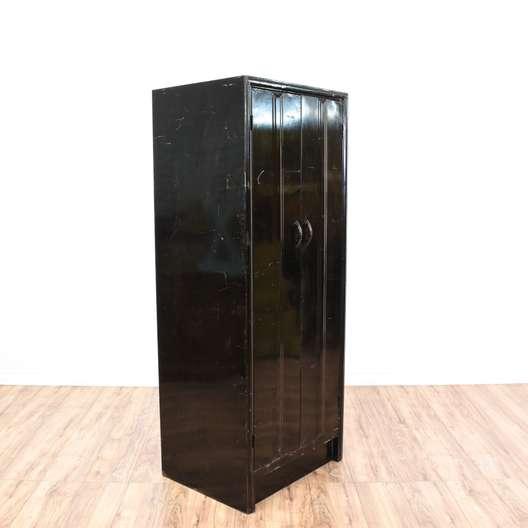 Black Metal Locker Storage Cabinet