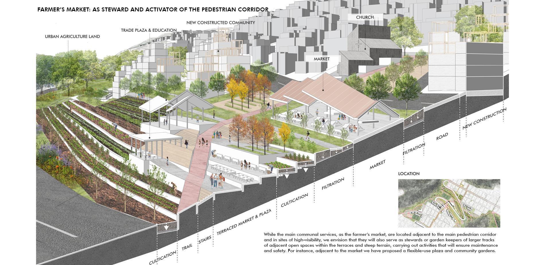 Farmer's Market: As Steward and Activator of the Pedestrian Corridor