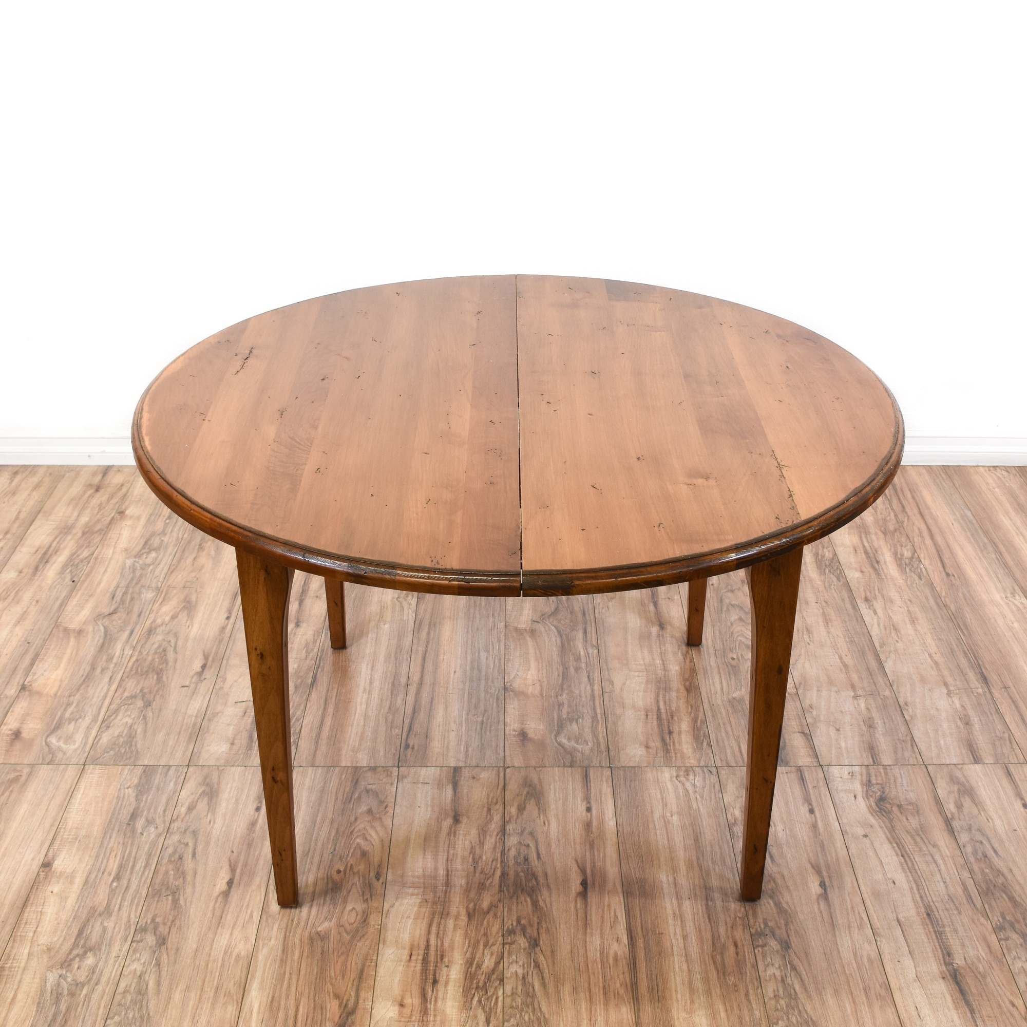 round rustic style dining table w 2 leaves loveseat vintage
