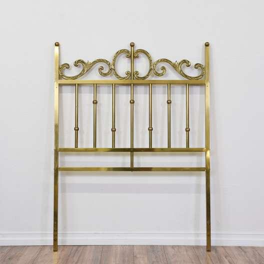 Shiny Metal Brass Twin Sized Headboard 2
