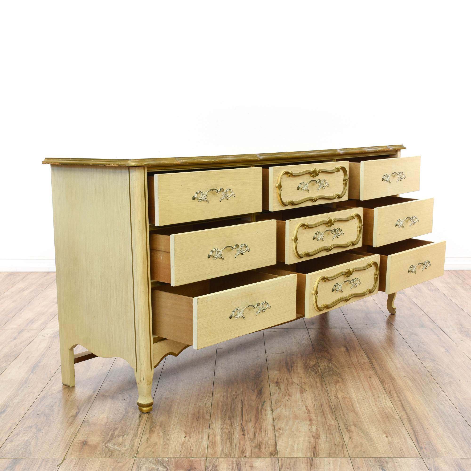 French Provincial Style 9 Drawer Long Dresser
