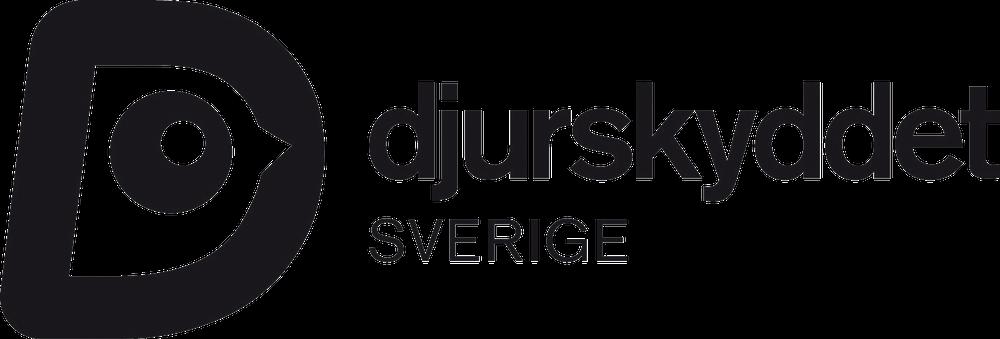 Djurskyddet Sveriges logotyp i svart som PNG-fil.