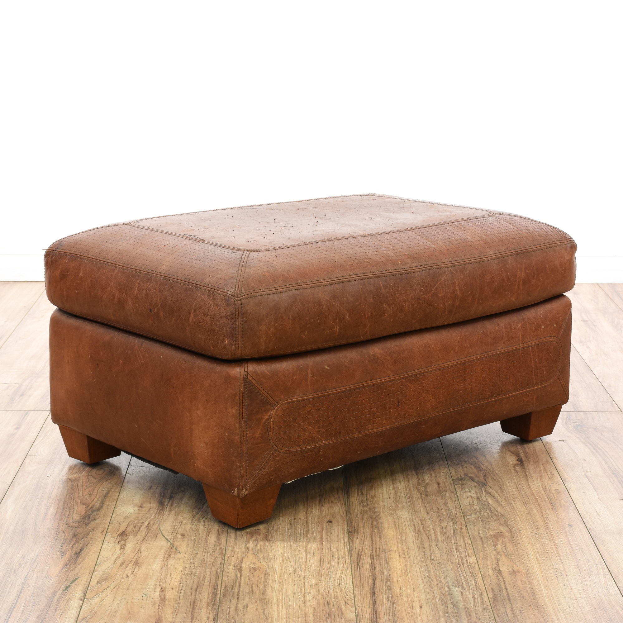 Quot Stickley Quot Craftsman Leather Ottoman Footstool Loveseat