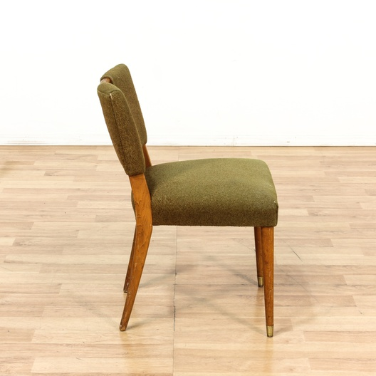 Marvelous Mid Century Sage Green Accent Chair W Wood Handle Gmtry Best Dining Table And Chair Ideas Images Gmtryco
