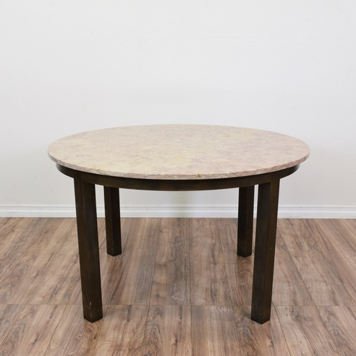Dining Room Furniture San Diego: Round Marble Top Dining Table / Game Table