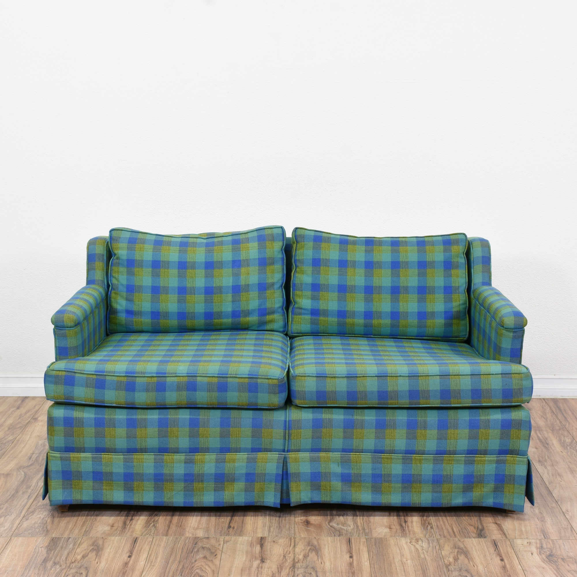 Green Plaid Sofa 281a Lazy Boy Country Green Plaid Sofa