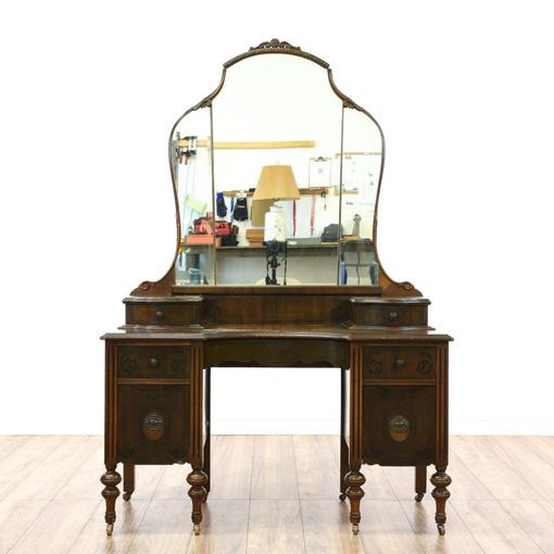Antique Depression Era Vanity & Mirror