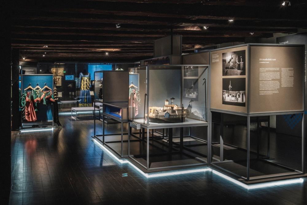 Del av Scenkonstmuseets huvudutställning På scen. Foto: Jonas André
