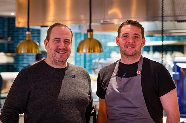 Simon Boyle and Ben, a Beyond Food recruit