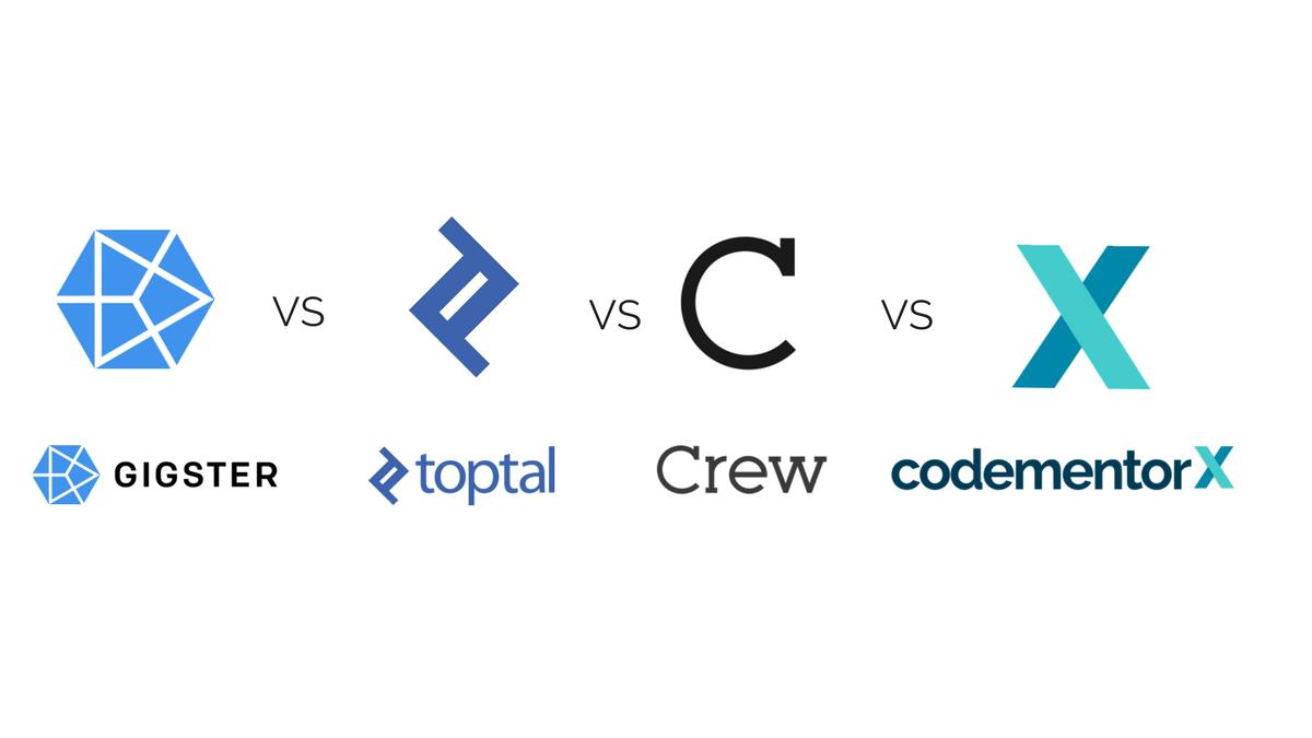 Gigster vs. Toptal vs. Crew vs. CodementorX: A Comparison of Freelance Developer Platforms