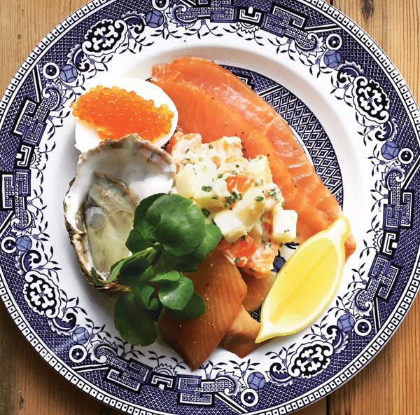 Smorgasbord of seafood