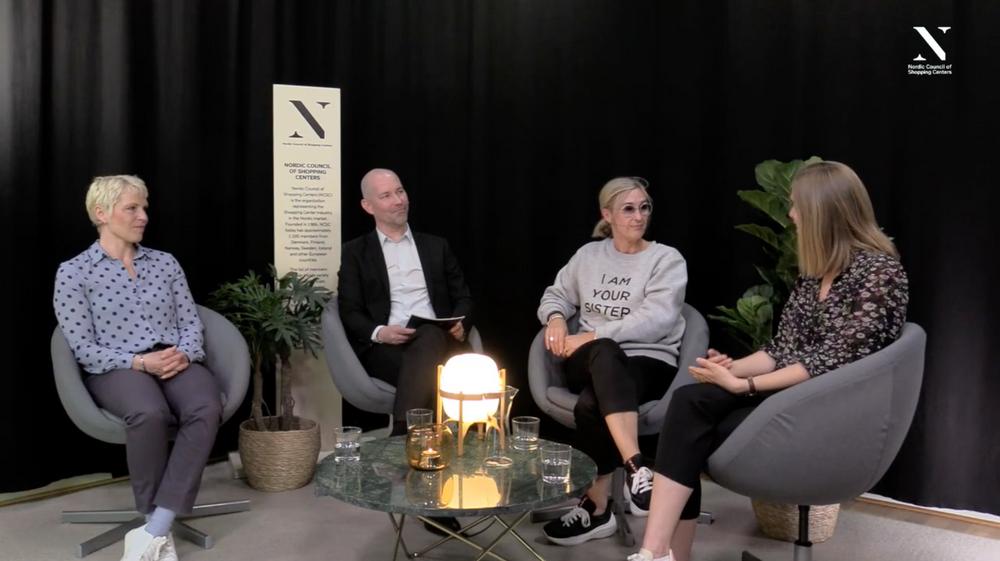 Maria Edsman (Bokhandelsgruppen), Magnus Ohlsson (Retailomania), Annelie Gullström (AMF Fastigheter), Louise Ryning (URW)