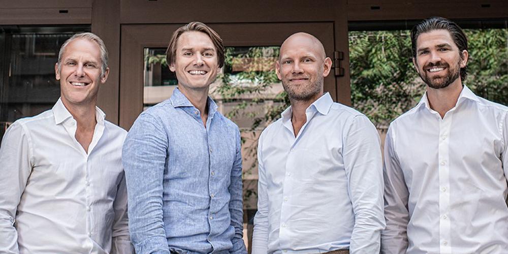 EMG:s grundare tillsammans med Jakob Tolleryd, Partner på Verdane.