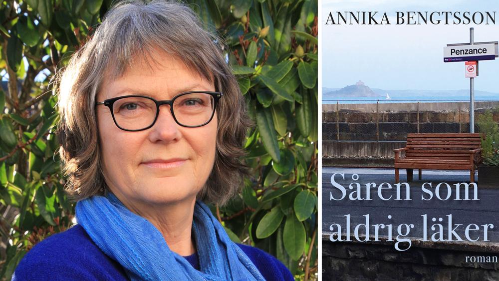 Annika Bengtsson och boken Såren som aldrig läker.