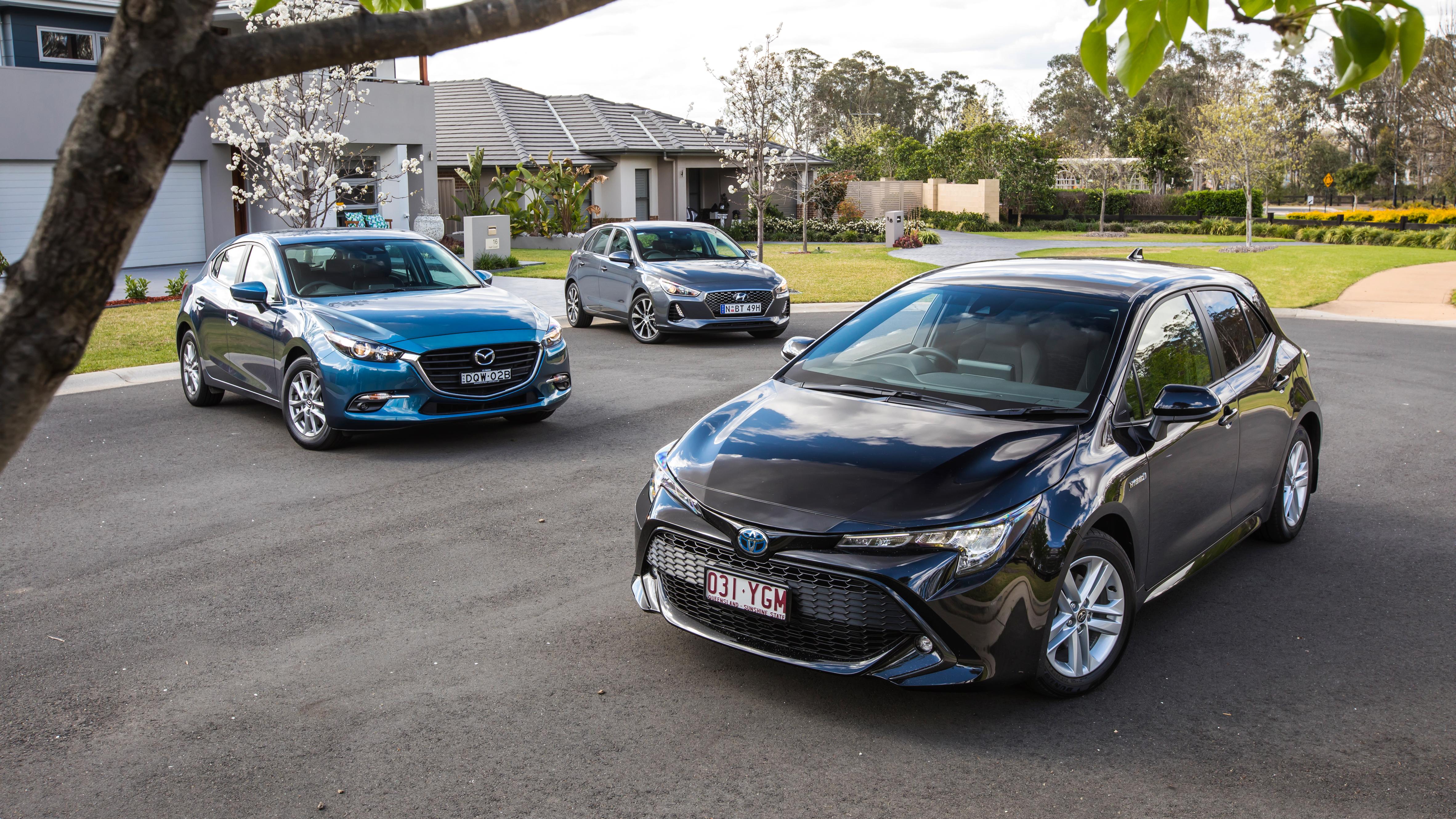 Toyota Corolla takes on Mazda3 and Hyundai i30 | Comparison review