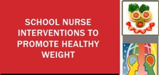 School Nurse Interventions to Promote Healthy Weight:  You Can Make a Difference