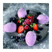 Mixed berry ice-cream