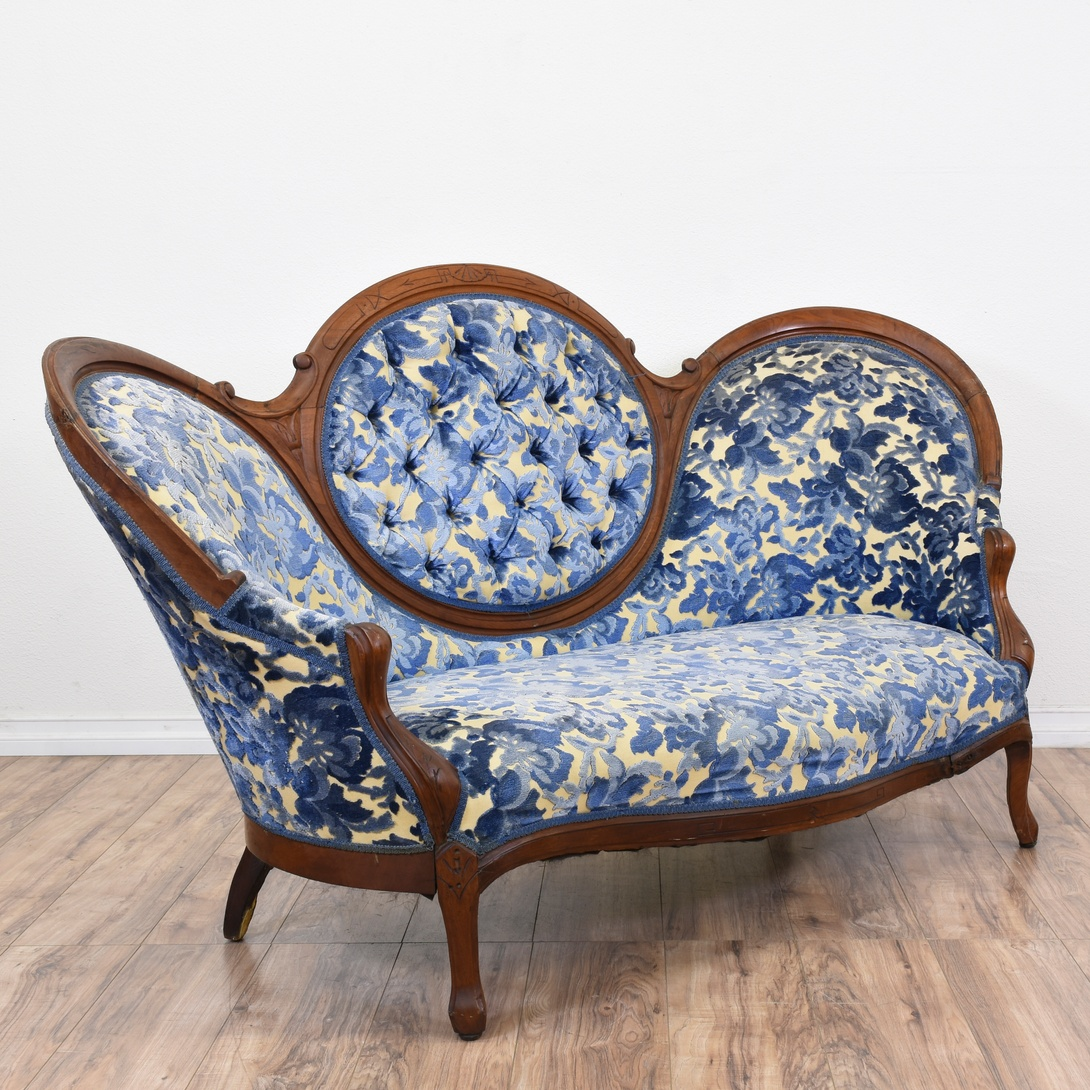 Antique Sofa Loveseat: Antique Victorian Carved Floral Parlor Sofa